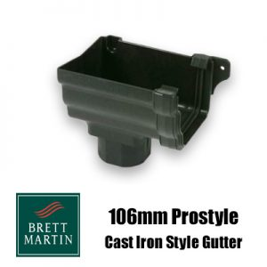 Brett Martin 106mm Plastic 'Cast Iron Style' Prostyle Gutter