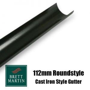 Brett Martin 112mm Plastic Cascade 'Cast Iron Style' Roundstyle Gutter