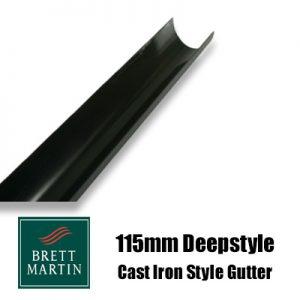 Brett Martin 115mm Plastic Cascade 'Cast Iron Style' Deepstyle Gutter