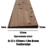 125mm brown feather