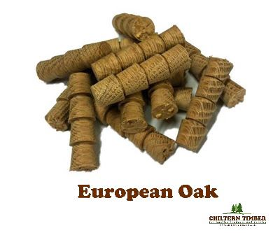 Pellets 12 7mm Taper Fit European Oak Chiltern Timber