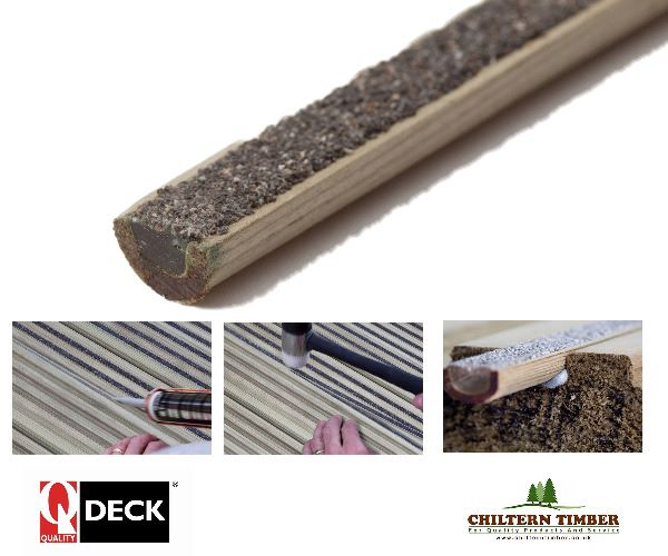 Softwood decking q grip strip anti slip insert for B and q timber decking