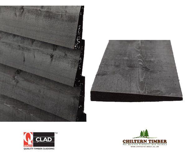 Timber Cladding Black Barn Weatherboard Q Clad