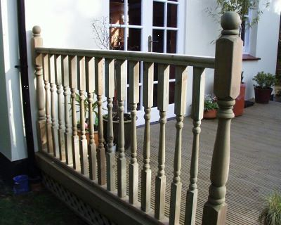 Decking Post Colonial Newel Post 85 X 85mm X 1 5m