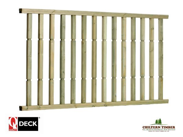 Decking balustrade contemporary ready made chiltern for Pre made timber decking