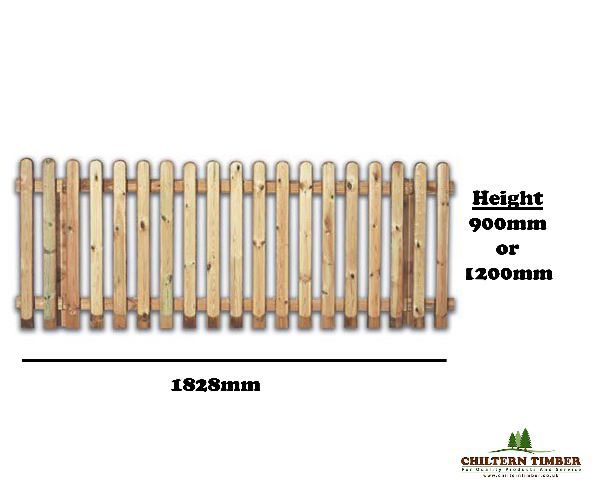 Fence Panel – Round Top Picket Fencing