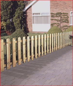 Fence Panel Round Top Picket Fencing Chiltern Timber