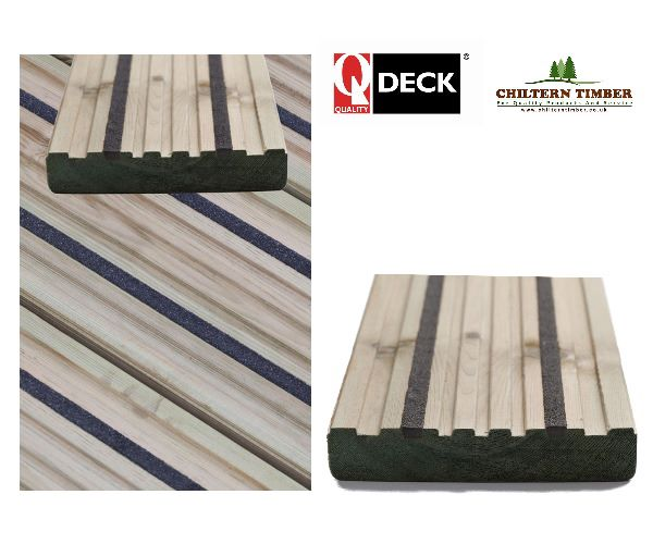 Softwood decking q grip canterbury style anti slip for B and q timber decking