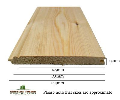 Tgv Matching Amp Bead Pine 14 X 144mm Chiltern Timber