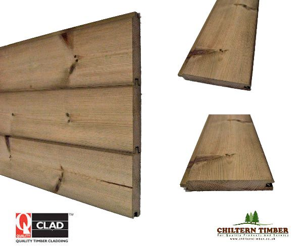 Timber cladding matching tg v mm treated