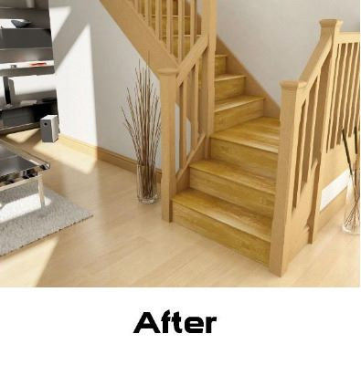 Oak Stair Klad Conversion System Tread Extension Sct