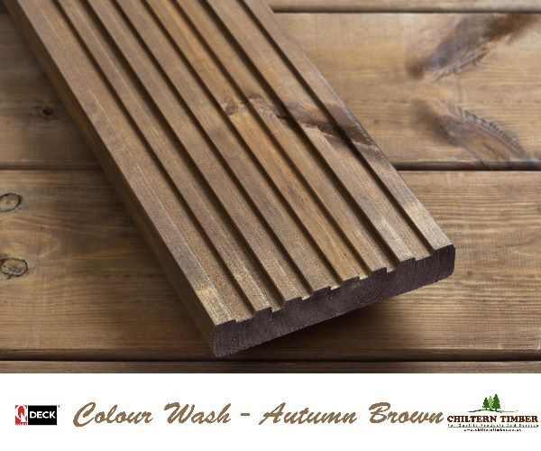 Softwood decking canterbury decking 27 x 144mm colour for Softwood decking boards