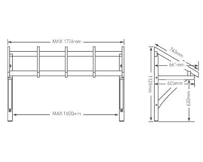 Porch Kit Flat Roof Porch Canopy 1600mm Chiltern Timber