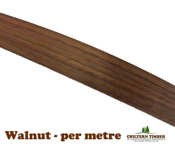 Iron On Edging Roll Real Wood Veneer American Black Walnut Per Metre
