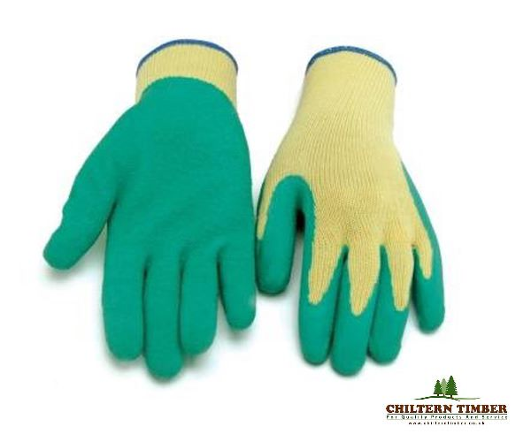Gloves With Latex Grip Size 10 X Large Chiltern Timber