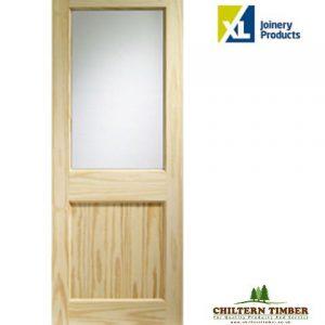 Pine 2xg glazed door