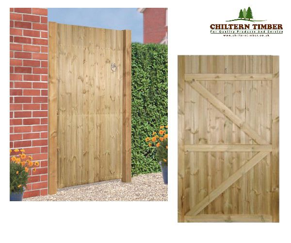 Gate Carlton Square Top Wooden Gate Chiltern Timber