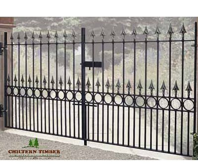 Balmoral Premium Spear Top Metal Gate Chiltern Timber