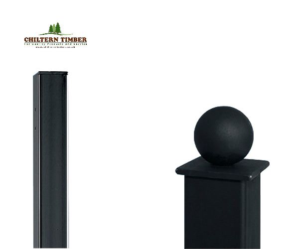 Square Metal Posts Flat Amp Ball Top Chiltern Timber