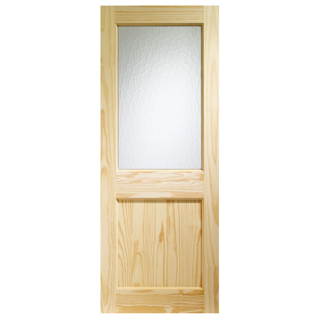 External Door Pine 2xg With Clear Glass Chiltern Timber