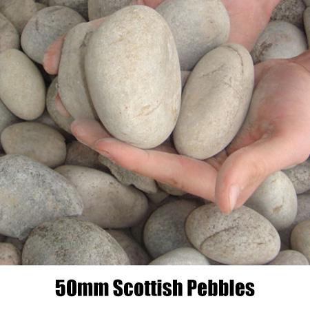 50mm scottish pebbles
