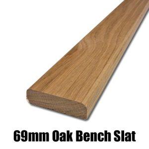 69mm oak bench slat
