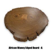 African Waney board A side