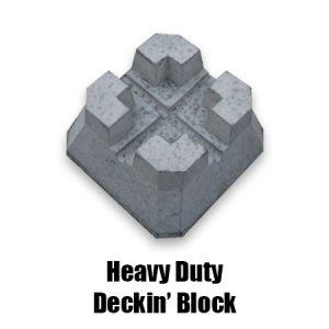 Heavy duty deckin block