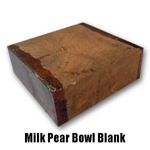 Milk Pear bowl blank