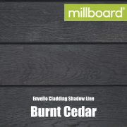 Millboard Envello Cladding Shadow Line Burnt Cedar