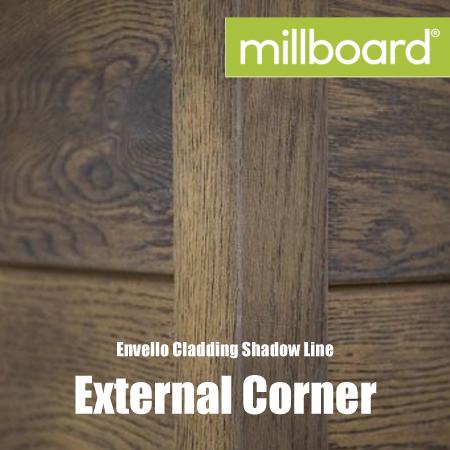 Millboard Envello Cladding Shadow Line External Corner