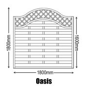 Oasis Fence Panel Dimensions