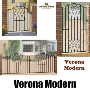 Verona Modern Metal Gates, Fence Panel & Railings
