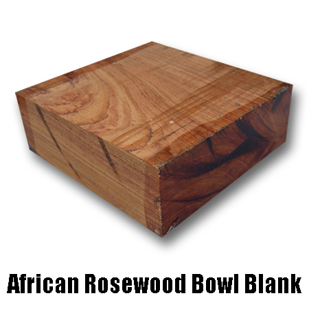 african rosewood bowl blank