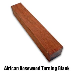 african rosewood spindle blank