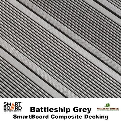 Smartboard battleship grey composite deck board for Grey composite decking