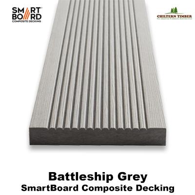 Smartboard battleship grey composite deck board for Decking boards 3 6 metres