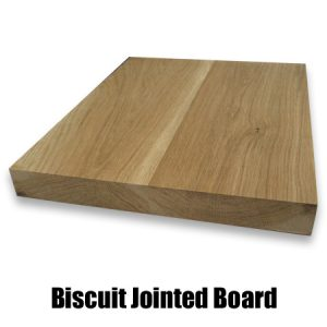 biscuit jointed oak