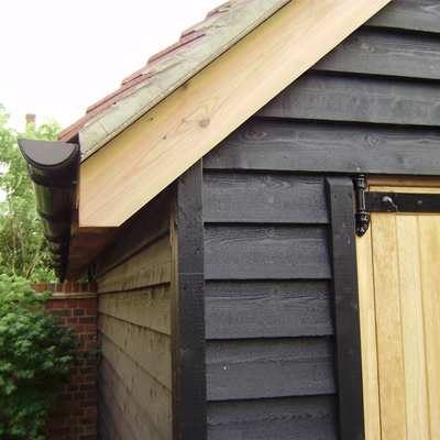 Weatherboard Featheredge Black Barn Cladding Q Clad