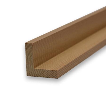 Timber Cladding – Western Red Cedar Corner Trim 44 x 44mm x 2 4m