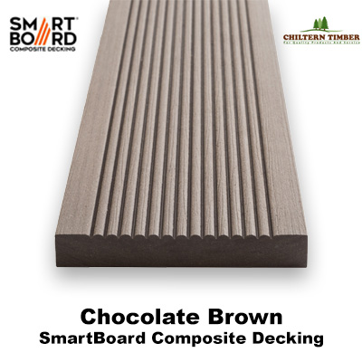 Smartboard chocolate brown composite deck board for 6 metre decking boards