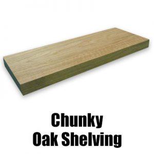 chunky oak shelving