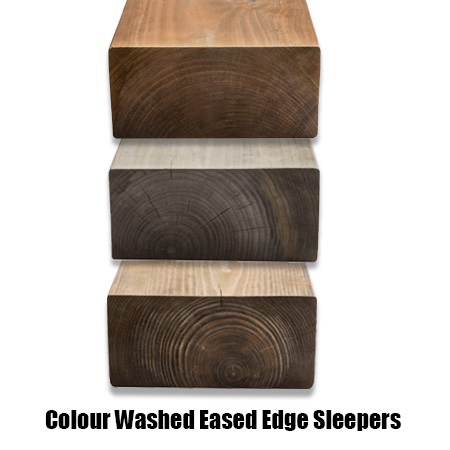 Railway Sleeper – Eased Edge Colour Washed