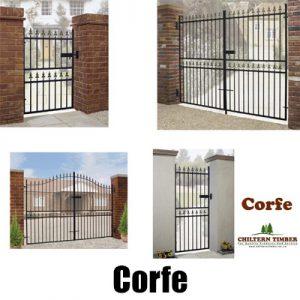 Corfe Premium Fleur-de-Lys Metal Gates