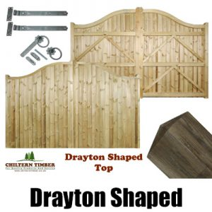 Drayton Shaped Top Gates, Posts & Fittings