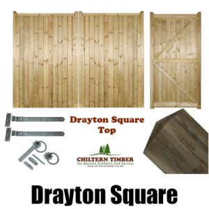 Drayton Square Top Gates, Posts & Fittings