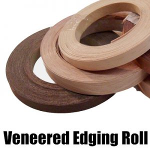 Real wood Pre-glued veneered edging roll (iron on edging)