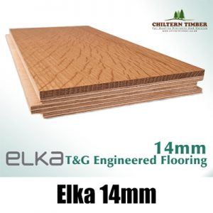 Elka 14mm Real Wood Hardwood Engineered T&G Flooring