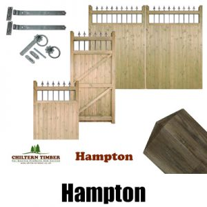 Hampton Wooden Gates, Posts & Fittings
