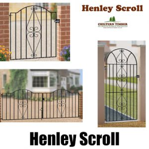 Henley Scroll Metal Gates, Fence Panel & Railings